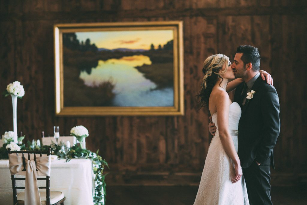 Styled Shoot at the Pinery at the Hill wedding venue in Colorado Springs | Dresses, tuxedos from Danelle's Bridal Boutique | Photo by Brian Kwan Photography