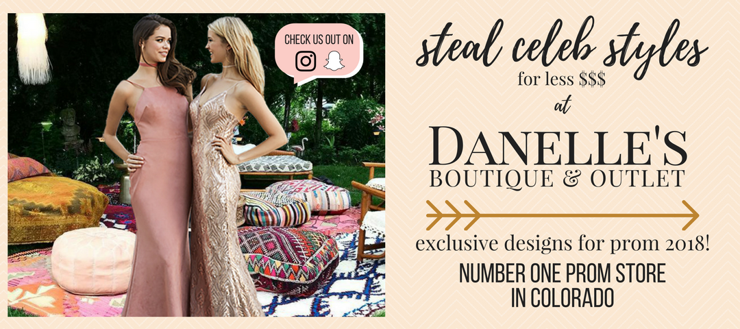 Danelle's is the best prom store in Colorado, with both a boutique store in Colorado Springs and a prom outlet store in Pueblo. Looking for Prom Dresses in Pueblo or Colorado Springs? Danelle's is the prom store you've been waiting for!