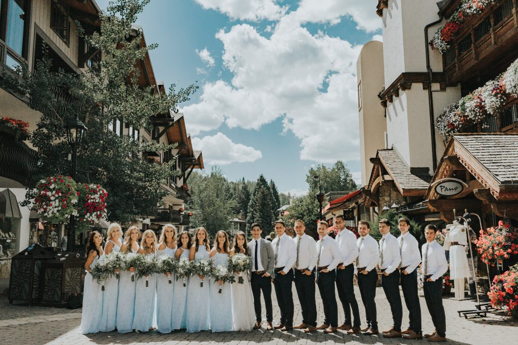 Savannah & Adam's mountain wedding in Vail, Colorado | Photos by Alexandra Loraine Photography | Wedding dress: Danelle's Bridal Boutique in Colorado Springs, Colorado
