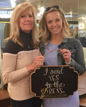 Cheyeanne says yes to her wedding dress with the support of her mom at Danelle's Bridal Boutique in Colorado Springs!
