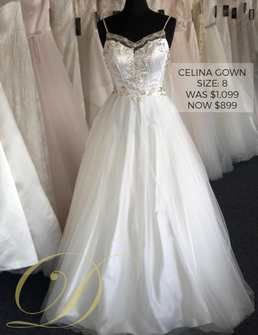 0fbfca850fb Now just  Celina Wedding Gown size 8 at Danelle s Bridal Outlet in Pueblo