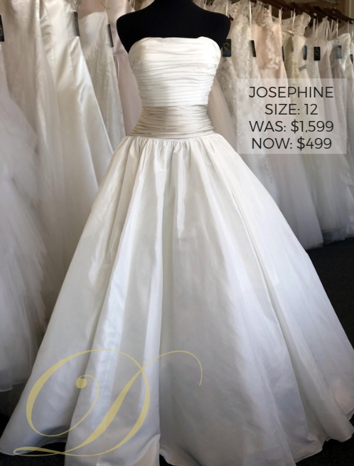 a1c2956ef38 Size 16 strapless sweetheart  Josephine Wedding Dress Size 12 at Danelle s  Bridal Outlet in Pueblo