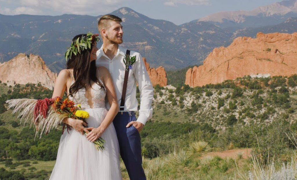 Colorado Springs local inspired wedding shoot at Garden of the Gods, featuring L'amour by Calla Blanche, Danelle's Bridal Boutique, and Delaney Darling Florals.